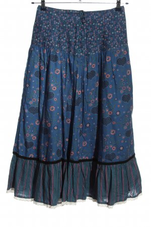 Yessica Spódnica maxi niebieski-różowy Na całej powierzchni W stylu casual