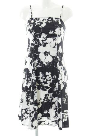 Yessica Midikleid schwarz-weiß Blumenmuster Casual-Look