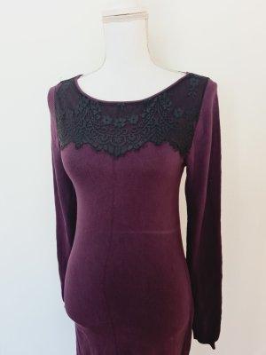 Yessica Midikleid Schlauchkleid Kleid mit langen Ärmeln und  Spitze S 36