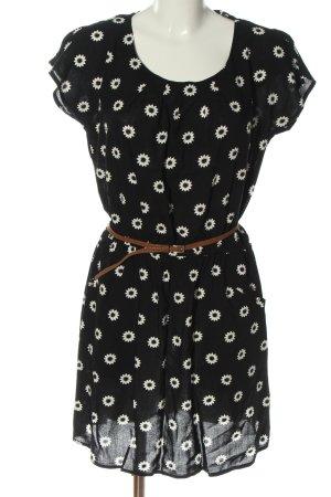 Yessica Sukienka mini czarny-biały Na całej powierzchni W stylu casual