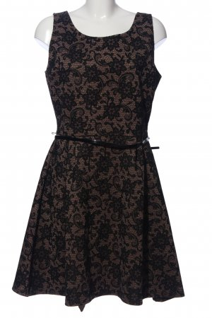 Yessica Minikleid schwarz-braun Allover-Druck Elegant