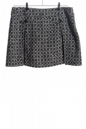 Yessica Mini rok zwart-wit gestippeld casual uitstraling