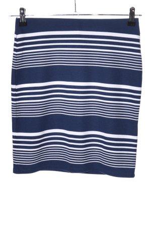 Yessica Mini rok blauw-wit gestreept patroon casual uitstraling