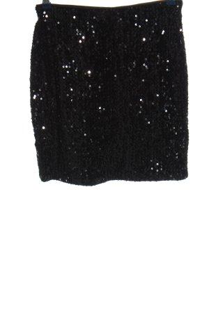 Yessica Mini rok zwart glitter-achtig