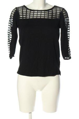 Yessica Netshirt zwart casual uitstraling