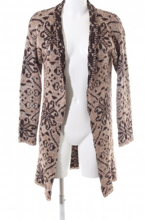 Yessica Norwegian Cardigan nude-brown mixed pattern casual look