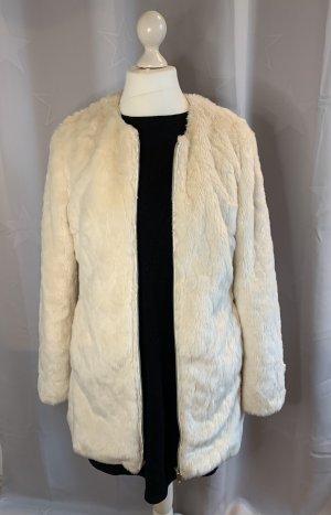 C&A Yessica Cappotto in eco pelliccia crema