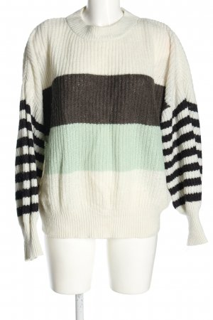 Yessica Oversized Pullover Streifenmuster Casual-Look