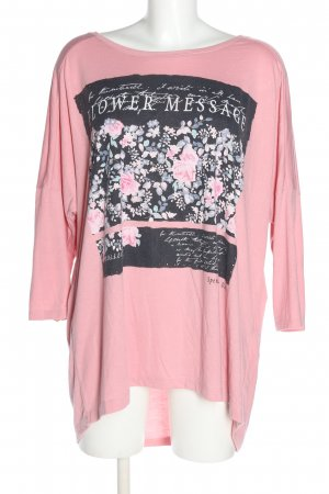 Yessica Oversized Shirt pink Motivdruck Casual-Look