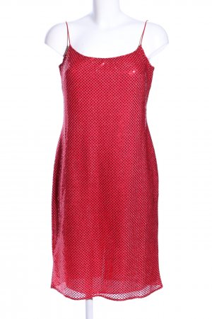 Yessica Pailettenkleid rot-schwarz Punktemuster Elegant