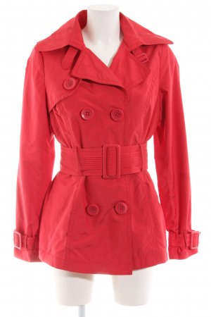 Yessica Pea Coat red casual look
