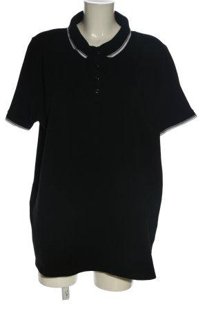 Yessica Polo-Shirt schwarz Casual-Look