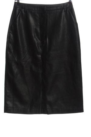Yessica Premium Faux Leather Skirt black elegant