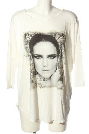 Yessica Print-Shirt weiß-schwarz Motivdruck Casual-Look