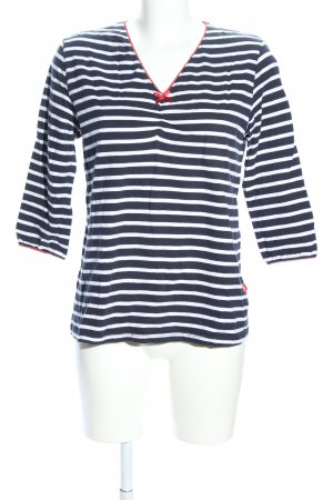 Yessica Ringelshirt blau-weiß Streifenmuster Casual-Look