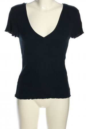 Yessica Ribbed Shirt blue casual look