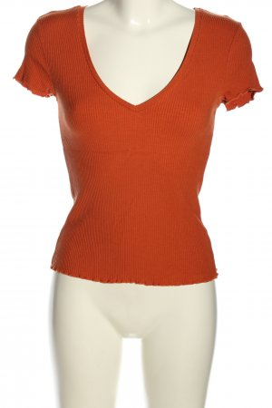 Yessica Ribbed Shirt light orange casual look
