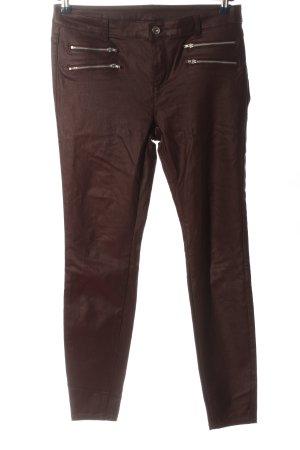 Yessica Spodnie rurki brązowy W stylu casual