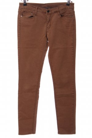 Yessica Drainpipe Trousers brown casual look