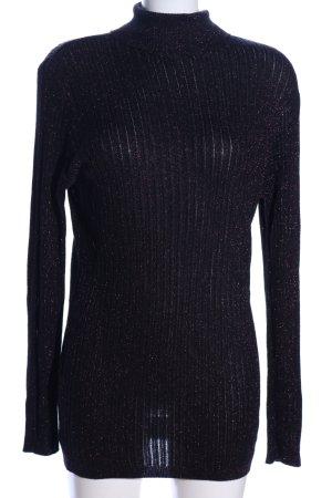 Yessica Rollkragenpullover schwarz-bronzefarben meliert Casual-Look