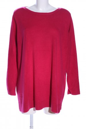 Yessica Rundhalspullover rot Casual-Look