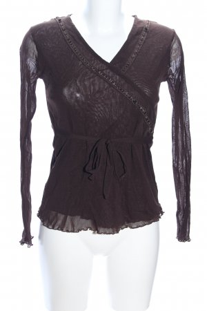 Yessica Schlupf-Bluse braun Casual-Look