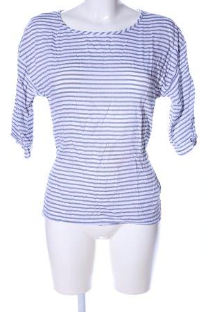 Yessica Schlupf-Bluse weiß-blau Streifenmuster Casual-Look
