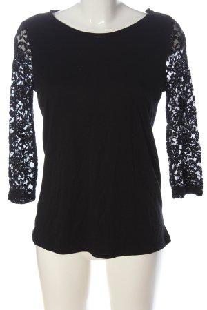 Yessica Camisa de malla negro look casual