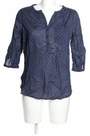 Yessica Schlupf-Bluse blau Punktemuster Casual-Look