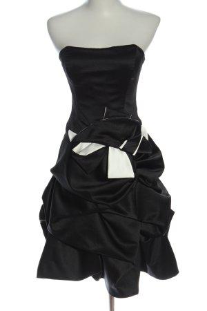 Yessica schulterfreies Kleid schwarz extravaganter Stil
