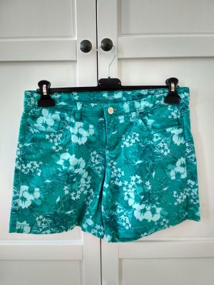 Yessica Shorts Gr. 38 türkis grün mint Blumenmuster