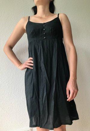 Yessica Spagettiträgerkleid Gr. 34 schwarz Baumwolle