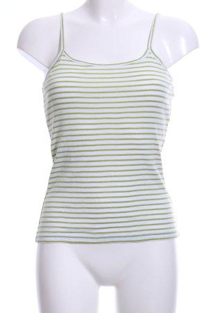 Yessica Spaghettiträger Top grün-weiß Streifenmuster Casual-Look