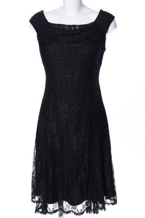 Yessica Vestido de encaje negro elegante