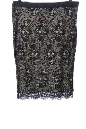 Yessica Falda de encaje blanco-negro look casual
