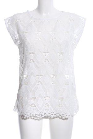 Yessica Top de encaje blanco look casual