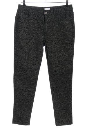 Yessica Pantalon en jersey gris clair-noir imprimé allover style décontracté