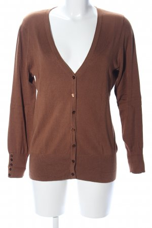 Yessica Strickjacke braun Business-Look