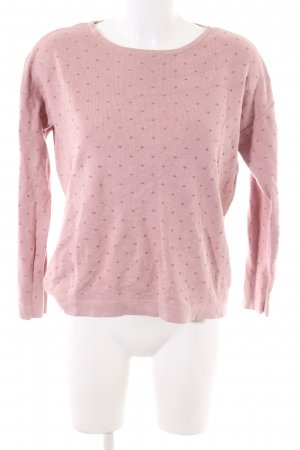 Yessica Strickpullover pink Allover-Druck Casual-Look