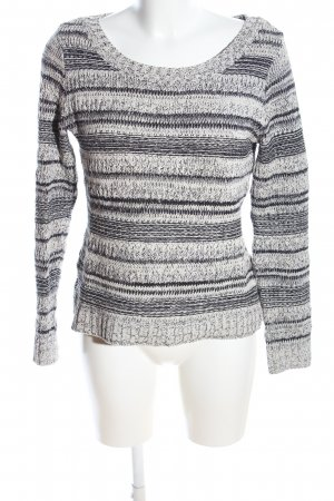 Yessica Pull tricoté gris clair-blanc cassé moucheté style décontracté