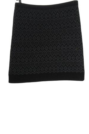 Yessica Jupe tricotée noir-gris clair imprimé allover style décontracté