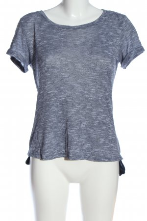 Yessica Strickshirt blau meliert Casual-Look