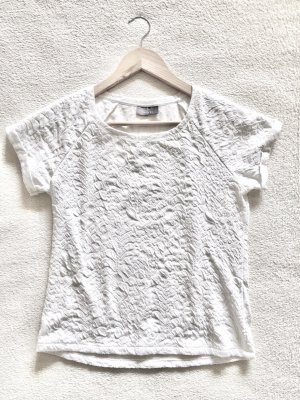 Yessica Struktur Shirt weiß Gr. S