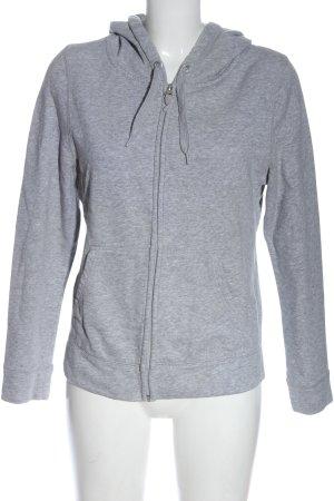 Yessica Sweat Jacket light grey flecked casual look
