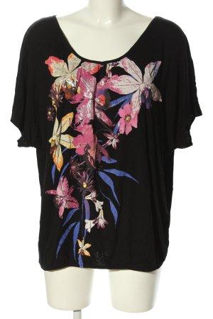 Yessica T-Shirt schwarz-pink Motivdruck Casual-Look