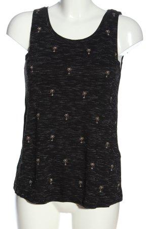 Yessica Tanktop zwart gestippeld casual uitstraling