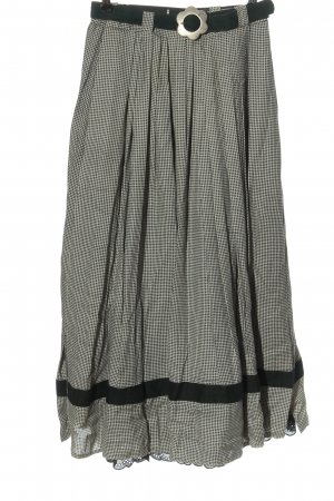 Yessica Traditional Skirt black-white allover print classic style