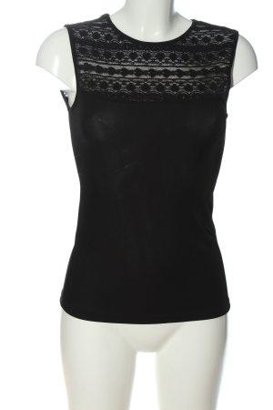 Yessica Canotta a bretelle nero modello web stile casual