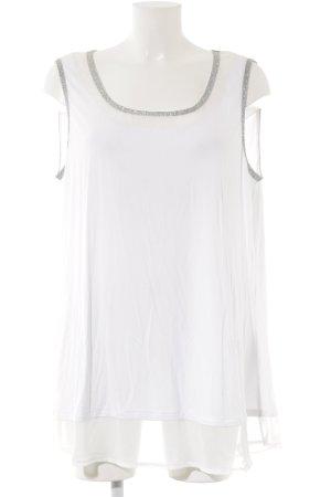 Yessica Top met spaghettibandjes wit-zilver straat-mode uitstraling