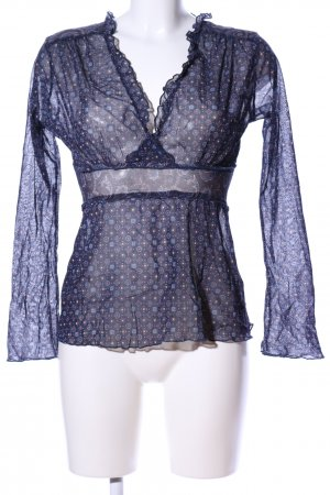 Yessica Transparenz-Bluse Allover-Druck Casual-Look